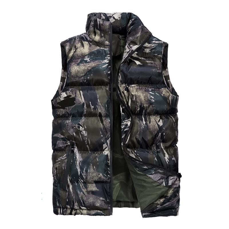 timeless design a5c76 0336a Gilet mimetico da uomo invernale senza maniche Casual Capispalla giacca  Camo Slim Fit Gilet Abbigliamento maschile Taglie forti M-5XL Chaleco