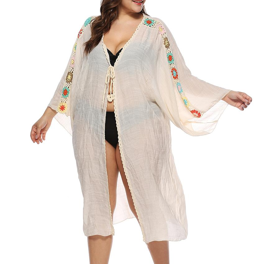 8be548103ecdb Women Plus Size Solid Swim Cover Up Sheer Beach Maxi Wrap Skirt Sarong  Pareo Tulle Dress Cover Up Beachwear Dress Female Clothes Yellow T Shirt  Dress Dress ...
