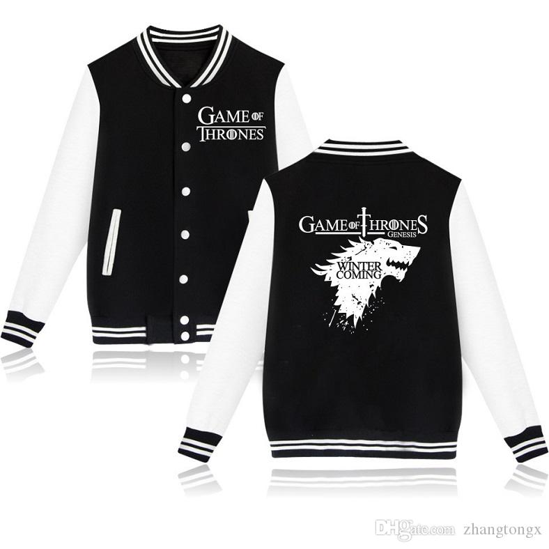 HOT! Leisure personality Lover's Baseball Jackets Song of Ice and Fire printing Casual Sweater cotton material Leniency Keep warm Sportswear