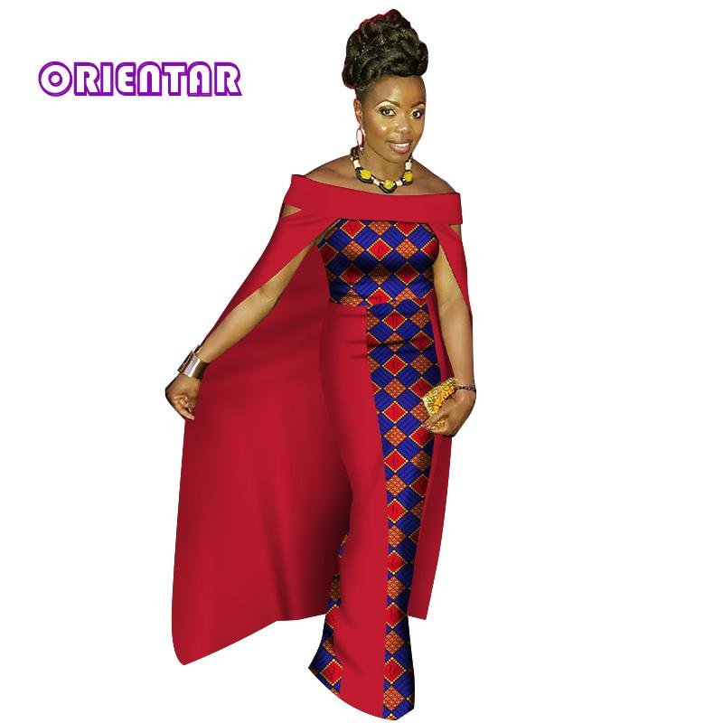 Fashion African Dresses for Women Bazin Riche Patchwork Cloak Long Dresses Clothes Party Traditional African Clothing WY3030