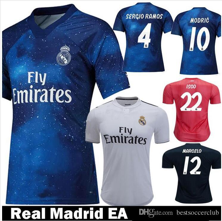 2019 Thailand Camisa Real Madrid Jersey 2018 2019  7 MARIANO Soccer Jerseys  18 19 Sergio Ramos Maillot ASENSIO MODRIC Football Shirt From  Bestsoccerclub cef9bcf85