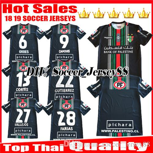 9ce1f96044a 2019 2018 2019 Club Deportivo Palestino Soccer Jersey 18 19 CAMPOS VALLEJOS  CUTIERREZ ORRES ROSENDE CORTES BENITEZ Home Away Football Shirts From ...