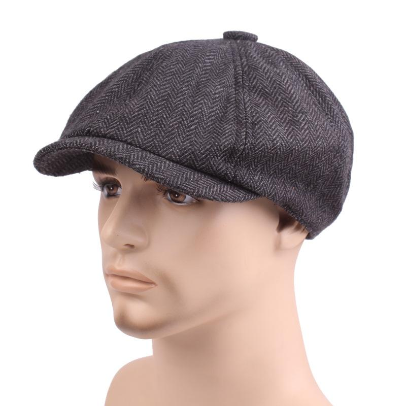 so cheap timeless design 50% price Mode Réglable Hommes Femmes Casual Béret Coton Plat Golf Casquette Style  Gavroche Style Gatsby Cabbie Chapeau