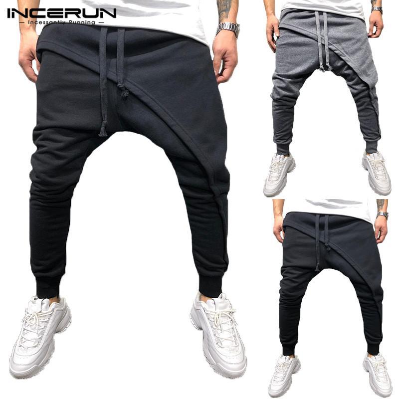 2dd7c48df684c Compre Trend Hiphop Pantalón De Chándal Pantalón De Chándal Pantalón De  Chándal Pantalón Cruzado Pantalón Ancho Pantalón Ancho Holgado Pierna  Elástica ...