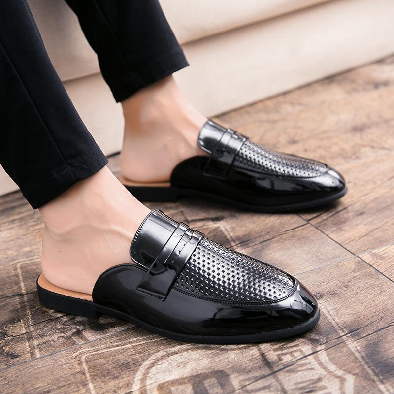 8015ec315 Men Shoes Outdoor Sandals Spring Summer Style Fashion Breathable Hollow  Leather Light Empty Casual Beach Slipper Men Shoes P4 Shoe Sale Shoes Uk  From ...