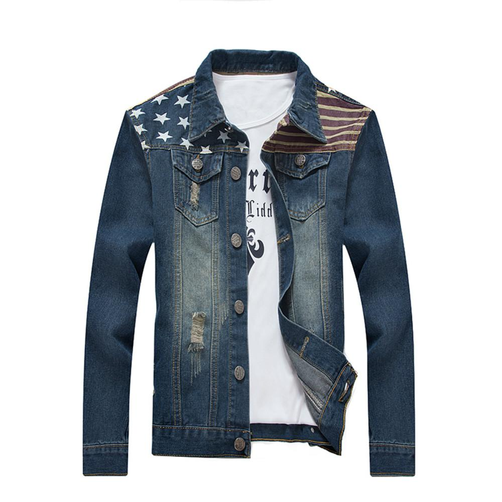 Kany Fashion Men's Denim Jacket Men Slim Outerwear Coats Motorcycle Flight Jackets Clothing For Spring Autumn