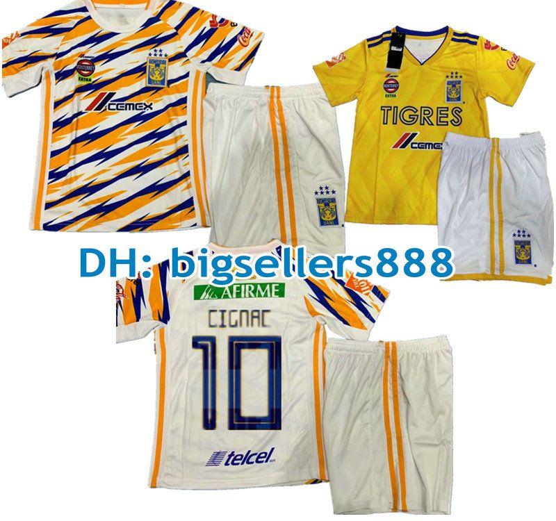 5b37ec9dd92 2019 Kids 18 19 Mexico Club GIGNAC Tigres UANL Yellow Home 3RD Soccer Jersey  Kits Boys 6 Stars Vargas 2018 2019 Away Child Football Shirt From  Bigsellers888 ...