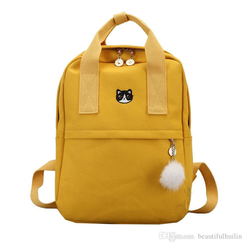 Fashion Women Backpacks For School Teenagers Girls Stylish School Bag Ladies  Canvas Fabric Backpack Female Bookbag Mochila BKB009 Jansport Big Student  ... 4926d6ad1d7fc