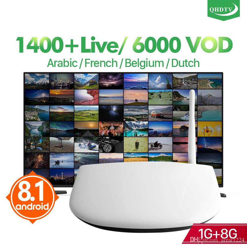 Europe Arabic French IPTV Channels included Android TV Box Q1304 Support  Sport Canal Plus French Iptv Set Top Box Free Test
