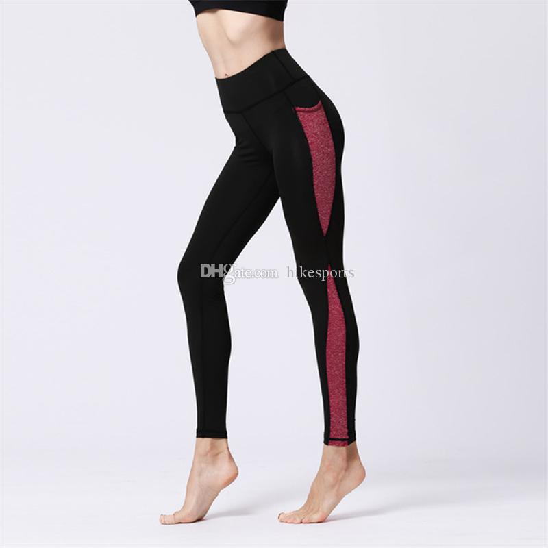 2018 shoes great quality novel style Womens Sport Yoga Pants Side Pockets High Waisted Workout Leggings Push Up  Tights Skinny Pants Fitness Gym Running Dance Trousers Sweatpants