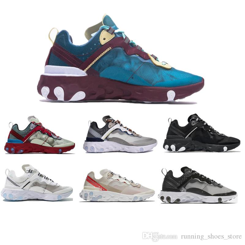 63a66046de6e 2019 Epic React Element 87 Undercover Men Running Shoes For Women Designer  Sneakers Sports Mens Trainer 55s 88s Sail Light Bone Sneakers 36 45 From ...