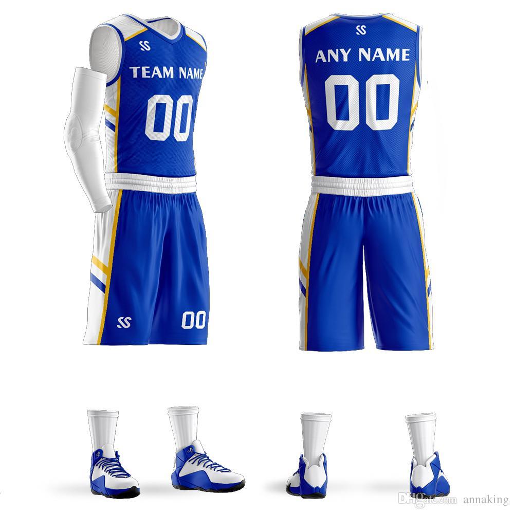 9aa846814 2019 Custom Men Youth Basketball Jerseys Set College Team Training Uniforms  Shirts High Quality Breathable Custom Sportswear Big Size From Annaking