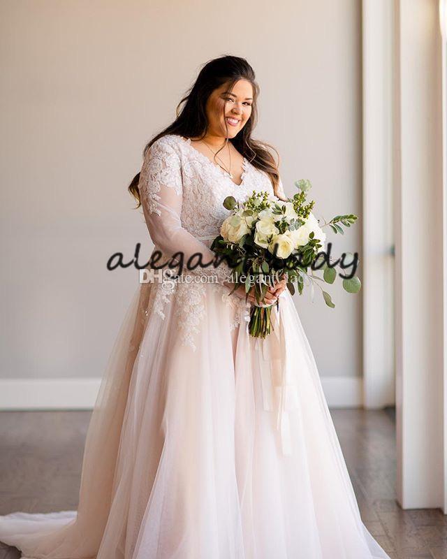 Robe de mariee avec manche grande taille