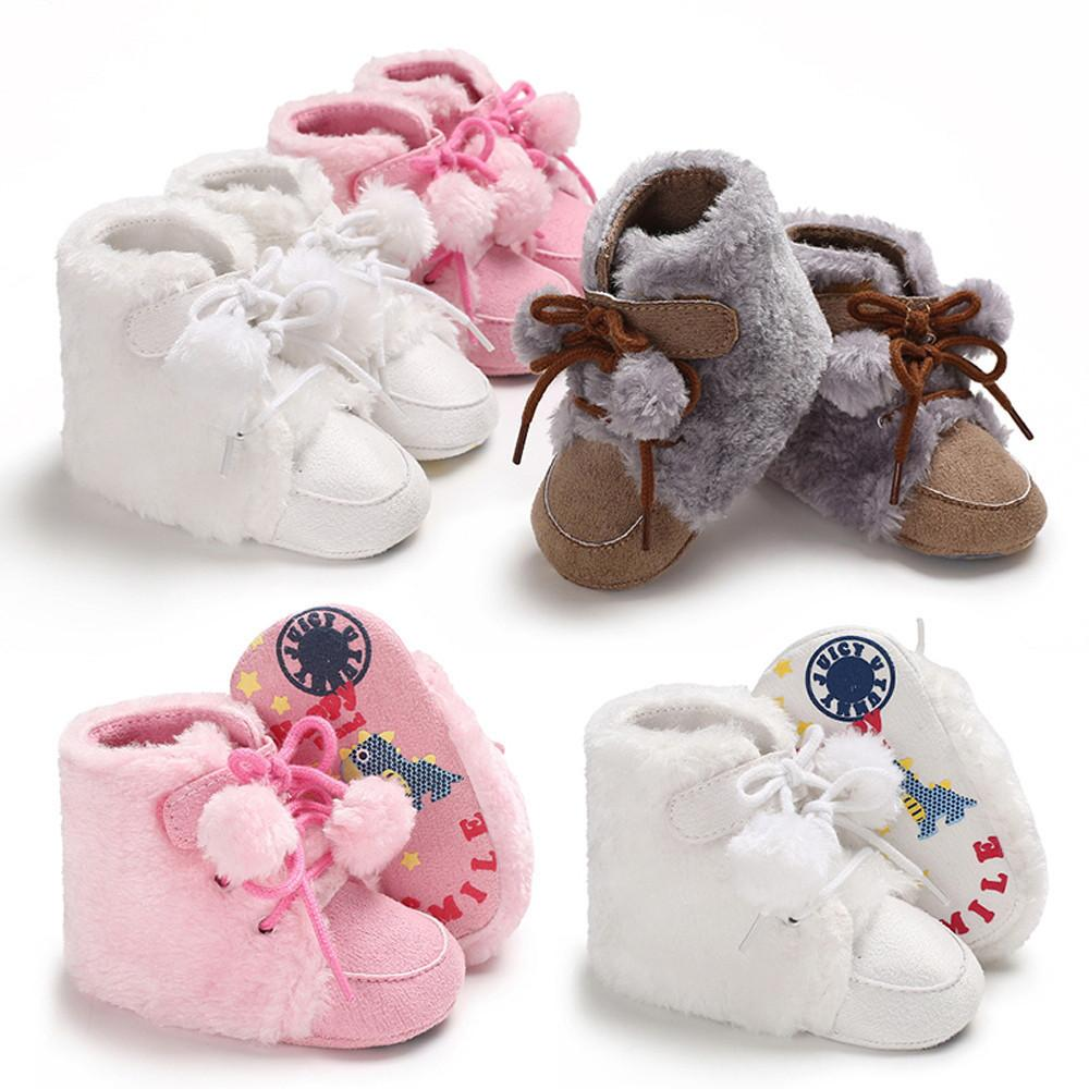55aa0b3426882 2019 Good Quality Baby Girl Boy Shoes Soft Booties Hair Ball Bandage Snow  Boots Toddler Warm Shoes Chaussure Enfant Kids Sneakers From Nextbest02, ...