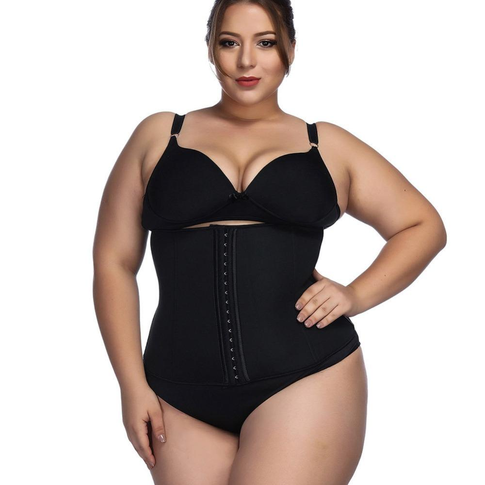 1f5ff96e7cc37 2019 ZYSK Women Plus Size Neoprene Waist Trainer Abdominal Belt Shapewear  Latex Waist Cincher Corset Underbust Body Sweat Body Shaper From  Guichenocat