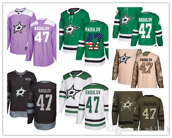 wholesale dealer 5d9a0 738c1 Dallas Stars jerseys #47 Alexander Radulov Jersey hockey men women youth  white green Breakaway Stiched authentic USA Flag fashion Jerseys