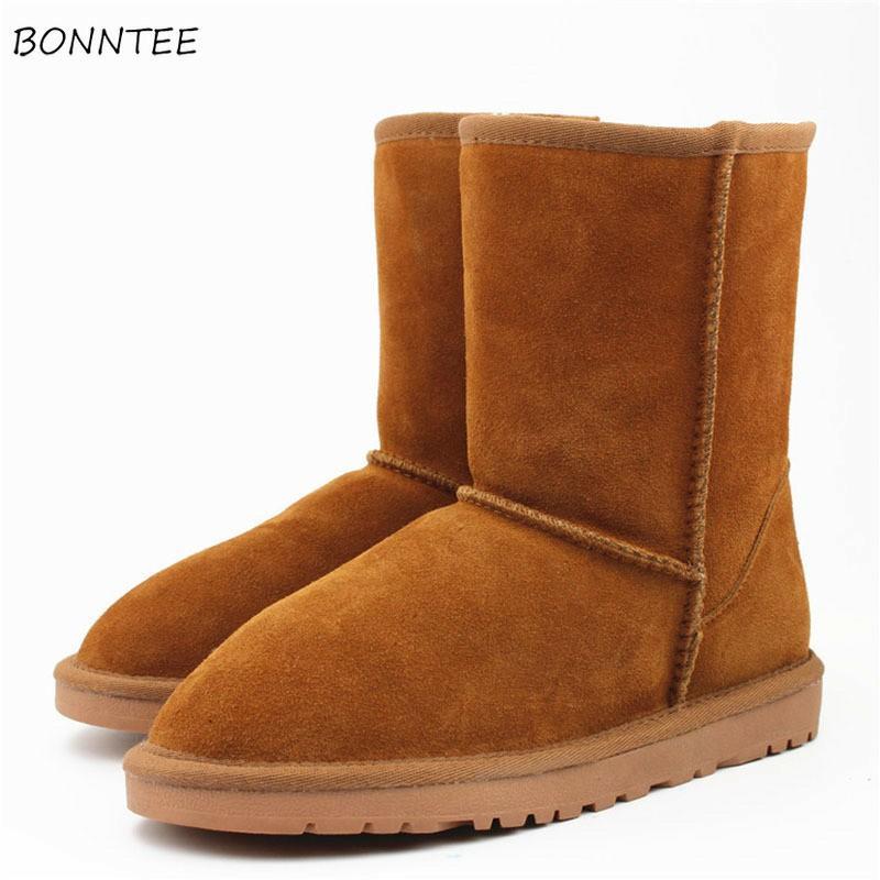 fbb8272a45c Boots Women Flock Australia Ugly Warm Thick Plush Snow Boot Round Toe Flat  Platform Plus Size Casual Womens Shoes Fashion Winter