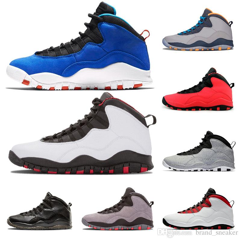 meilleur site web fddd1 8c1d2 Chaussures de basket-ball pour hommes 10 Tinker Cement 10s chaussures pour  hommes Bobcats Grey GS chicage Cool Grey je suis de retour Baskets bleu ...