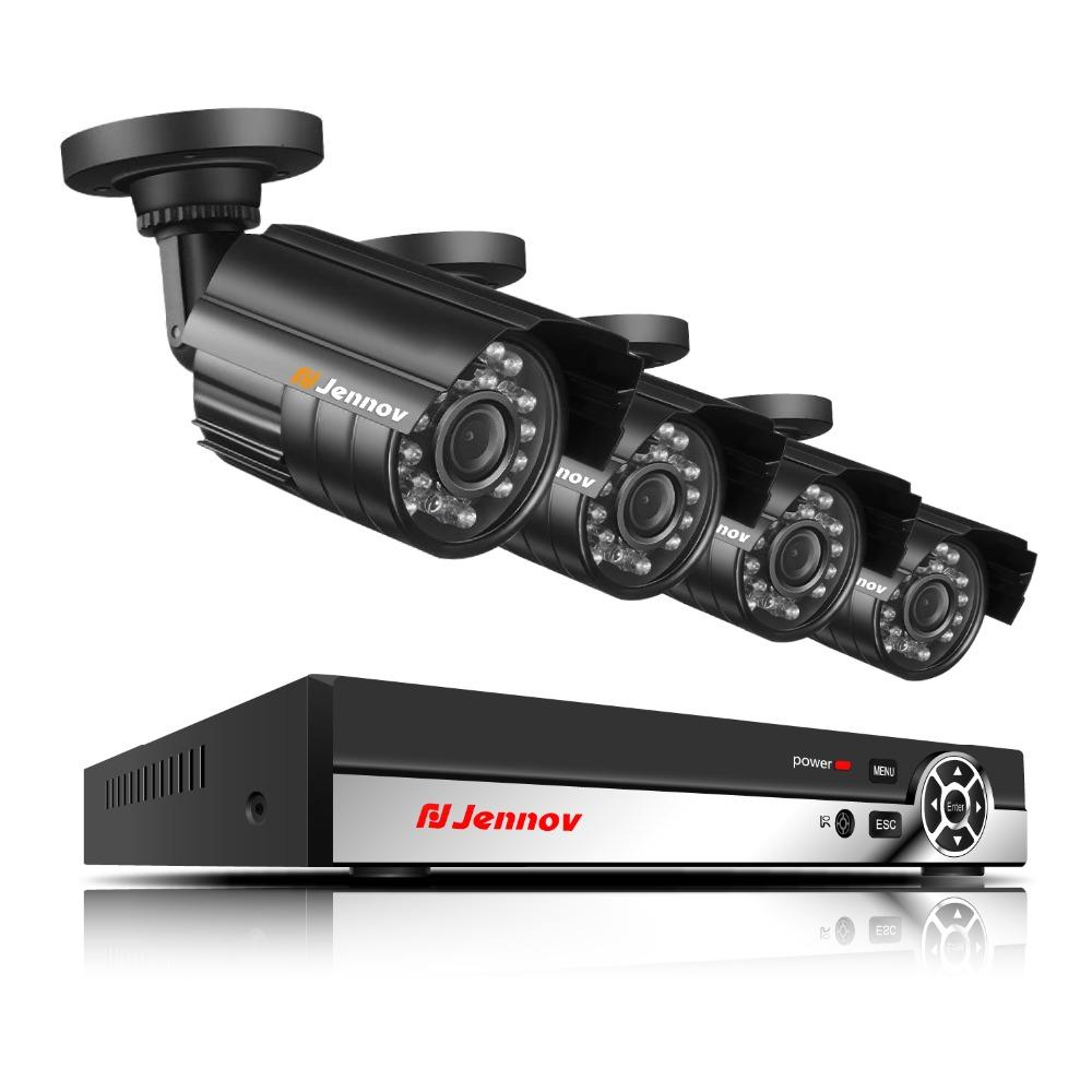AHD Video Surveillance 1080P Outdoor Security Camera System 4ch CCTV Kit  2TB Hard Disk 4 Cameras With 2MP DVR Outdoor Set