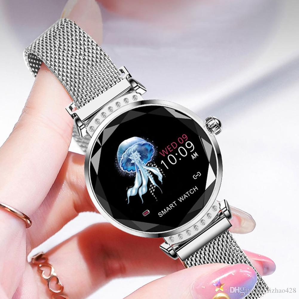 Fashion H2 Smart Watch Women 3D Diamond Glass Heart Rate Blood Pressure  Sleep Monitor Bracelet Best Gift Smartwatch Watch Smartwatch Get Smart Watch  From ... 2af6b46570
