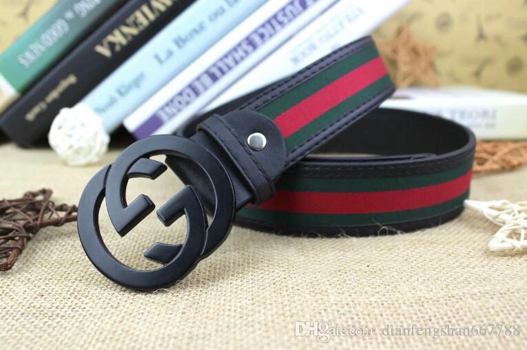 3da107f4ddc GUCCI Genuine Leather Belt with Smooth Metal Designer Belts Men ...
