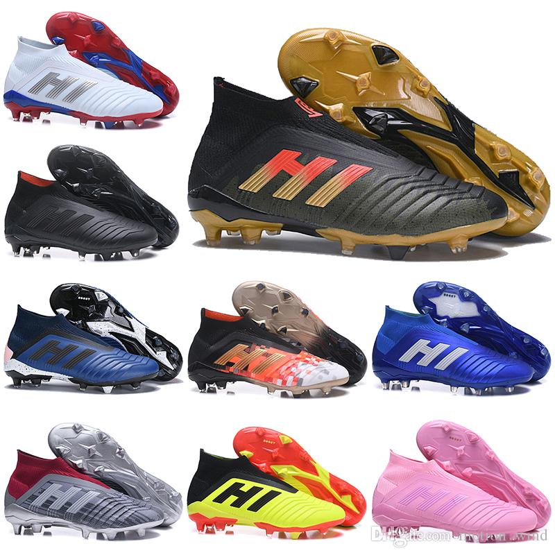 Kids High Ankle Football Boots Youth Predator Telstar 18+ FG Soccer Shoes  Men Women Predator 18 X Pogba FG Soccer Cleats Predator 18 Predator Boots  Predator ... d87017dad53