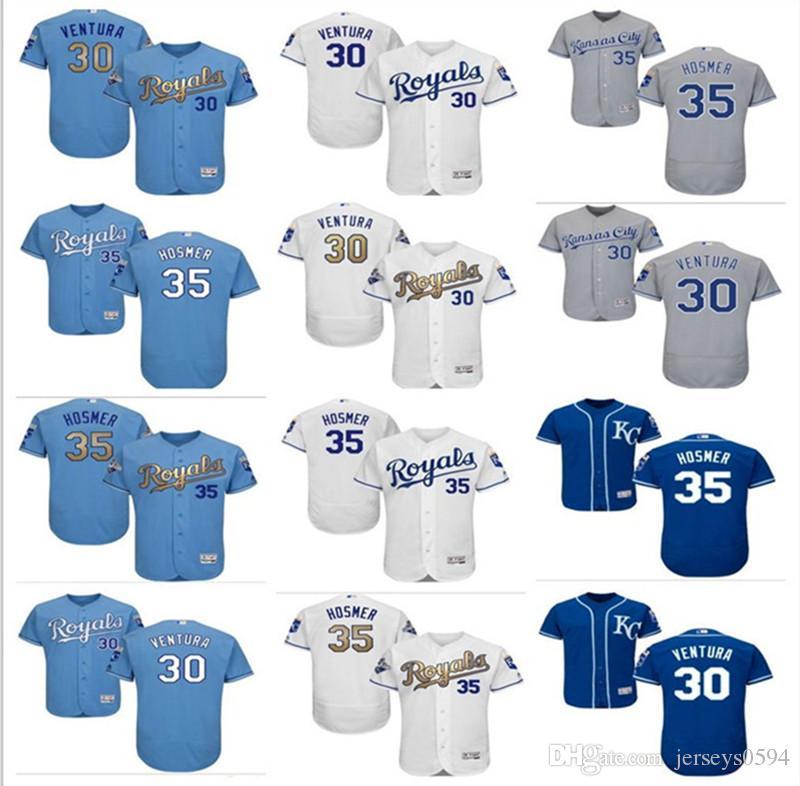 buy online 79156 e1703 2018 custom Men's Women Youth Majestic Kansas City Royals Jersey #35 Eric  Hosmer 30 Yordano Ventura home blue Kids Baseball Jerseys