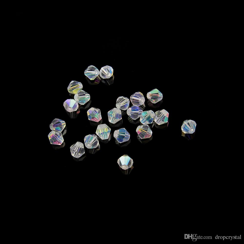 c49750e30 Clear Ab 4mm Rondelle Two Tips Faceted Beads Crystal Glass Round Beads For  Jewelry Beads Accessories Diy Safe Packaging Nails Decoration Foil Nail Art  From ...