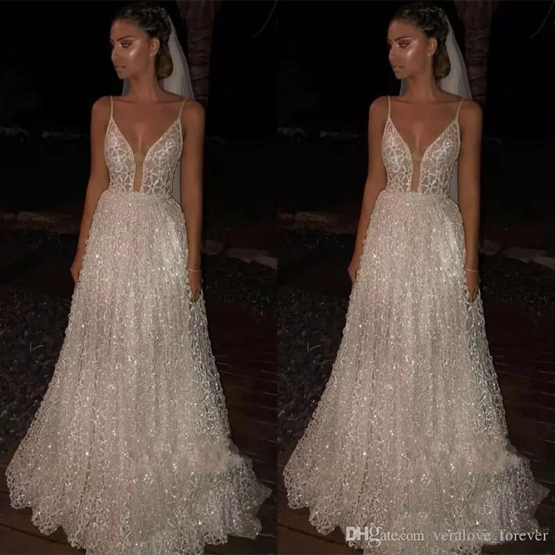 49c59098cc5 Sparkle Sequined Prom Dresses 2019 Deep V Neck Sexy Low Back Long Evening  Dress Cheap Pageant Special Occasion Dress Silver Prom Dresses Sparkly Prom  ...