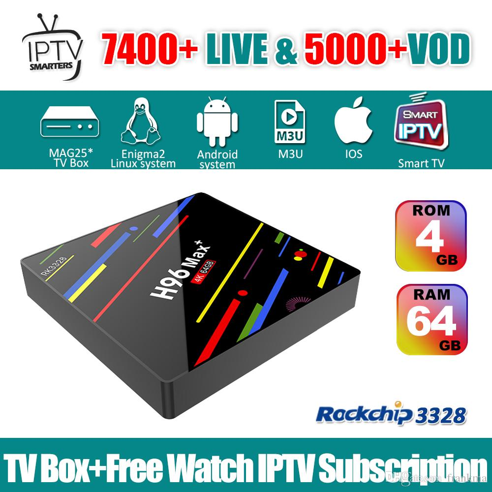 1 Year Dragon iptv Code Android 9 0 TV BOX H96max IPTV France Arabic Italy  Spain UK German Holland Latino India 7000 Live iptv Abonnement