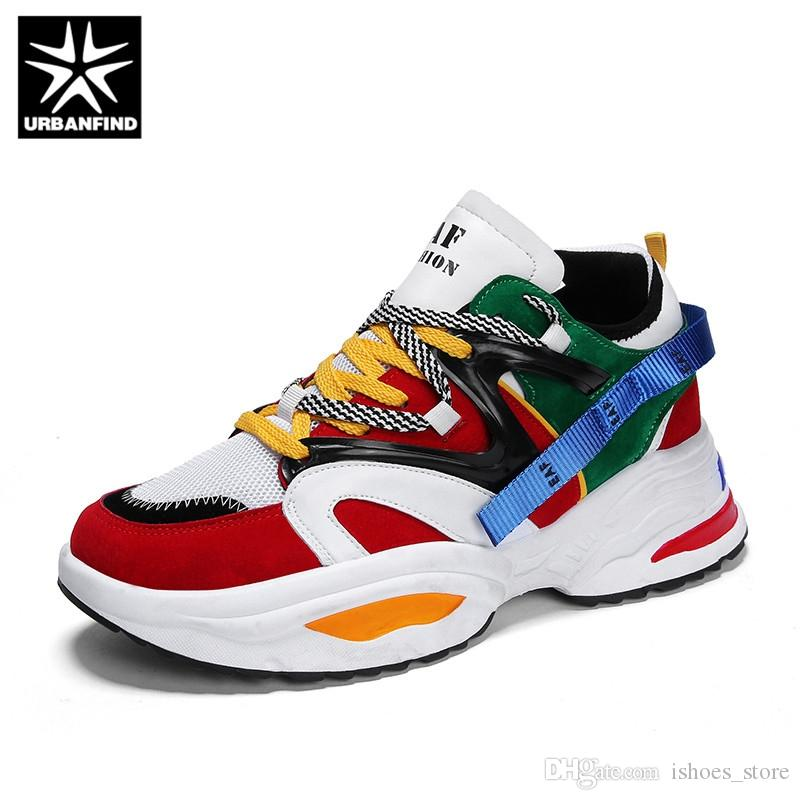 e367b2586a890 URBANFIND Dad Sneakers 2018 Kanye West Light Breathable Men Casual Shoes  Zapatillas Hombre Casual Tenis Masculino  142417 Shoe Boots Fashion Shoes  From ...