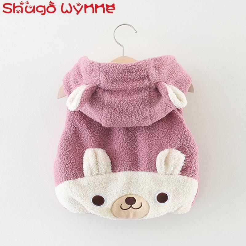 351f73f3d Autumn Winter Baby Girls Faux Fur Fleece Cartoon Bear Hooded Zipper ...