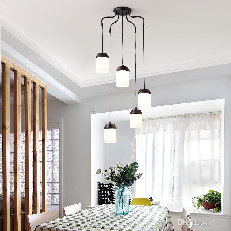 Nordic Leuchte Wohnzimmer Lüster Design Moderne Glasschirm Led Lampe Globe Lobby Kronleuchter Esszimmer L35Aj4R