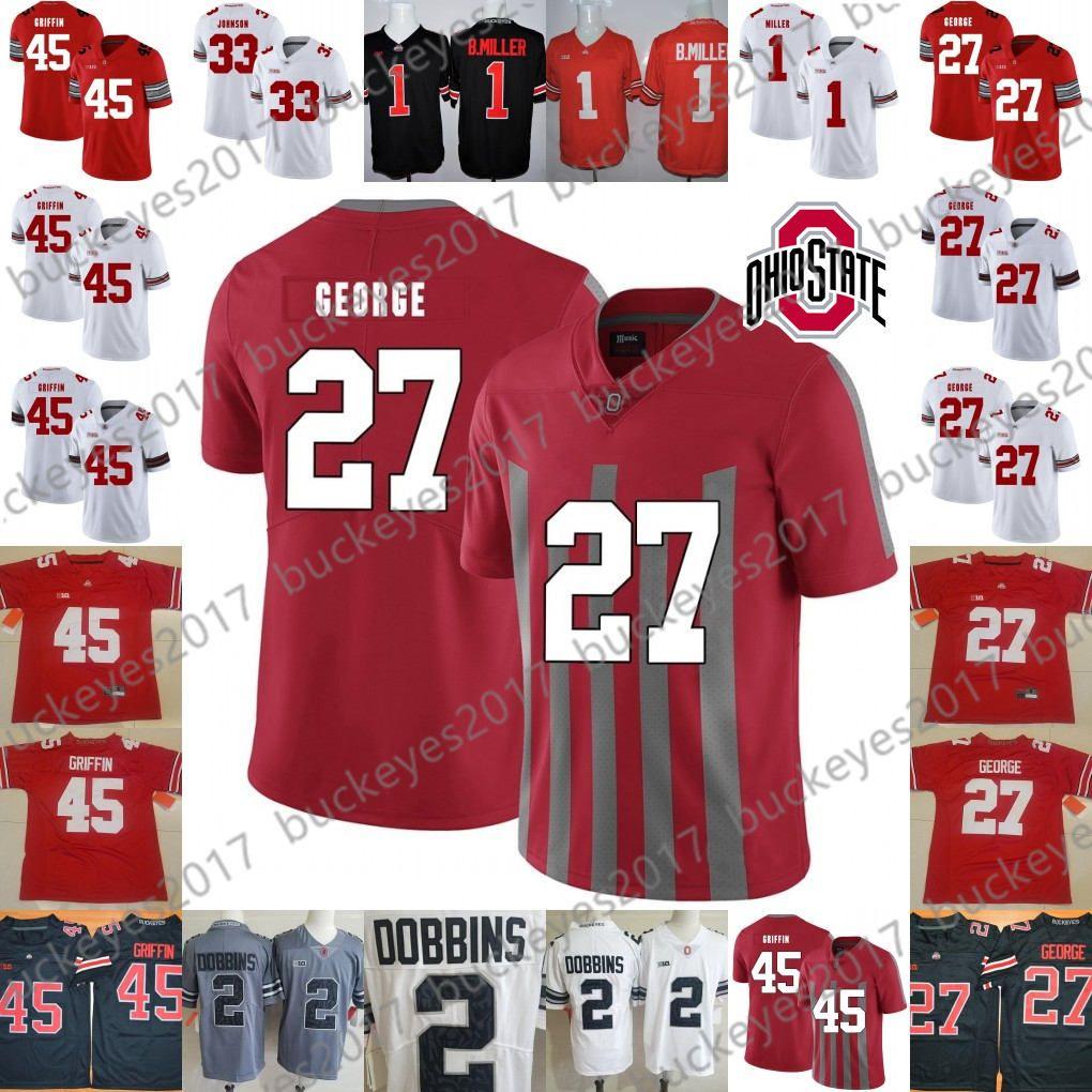 pretty nice 0ae1b 27aaf Ohio State Buckeyes #27 Eddie George 45 Archie Griffin 33 Pete Johnson 36  Chris Spielman 1 Braxton Miller Red White Gray Camo Jerseys
