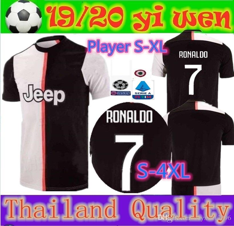 a286ad70f9e 2019 Thailand Quality Size S 4XL 2019 2020 Juventus Soccer Jersey 19 20 Men  RONALDO DYBALA Champions League Soccer Shirt MANDZUKIC Football Jerse From  ...
