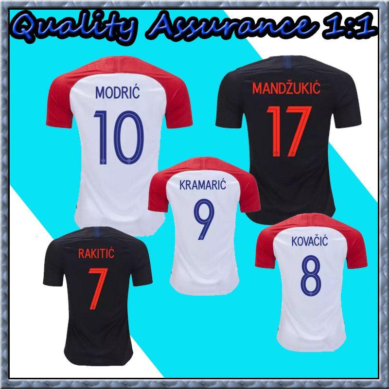 2019 Thailand 2018 World Cup PERISIC MODRIC Soccer Jerseys MANDZUKIC  RAKITIC Football Shirt KOVACIC Camiseta De Futbol KRAMARIC Maillot De Foot  From ... 3f4b547bb5e72