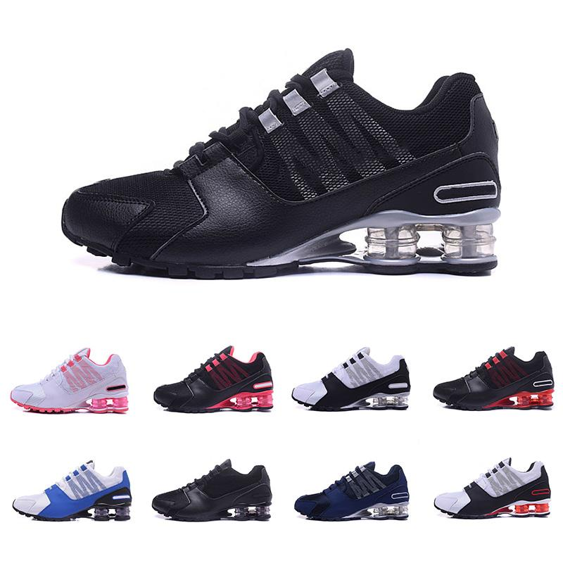 c55c9caaa7643c 2019 2019 Shox Avenue 802 R4 Air Column Basketball Shoes Black White Red  Mens Womens Tennis Running Shoes Outdoor Sports Designs Sneakers 36 46 From  ...