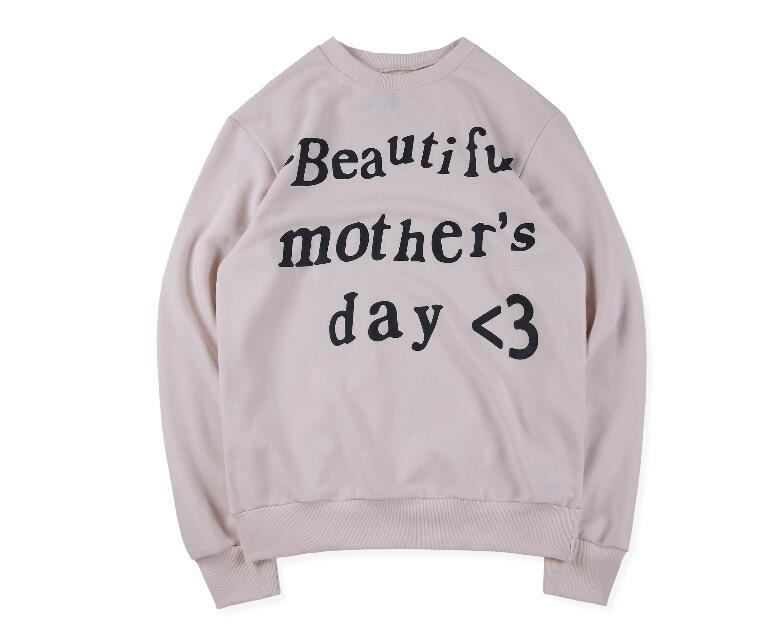 19SS Hip Hop Stars Kanye West Sunday Service Beautiful Mother Day Skateboard Hoodie Cool Pullover Men Women Cotton Long Sleeve Casual Hoodie