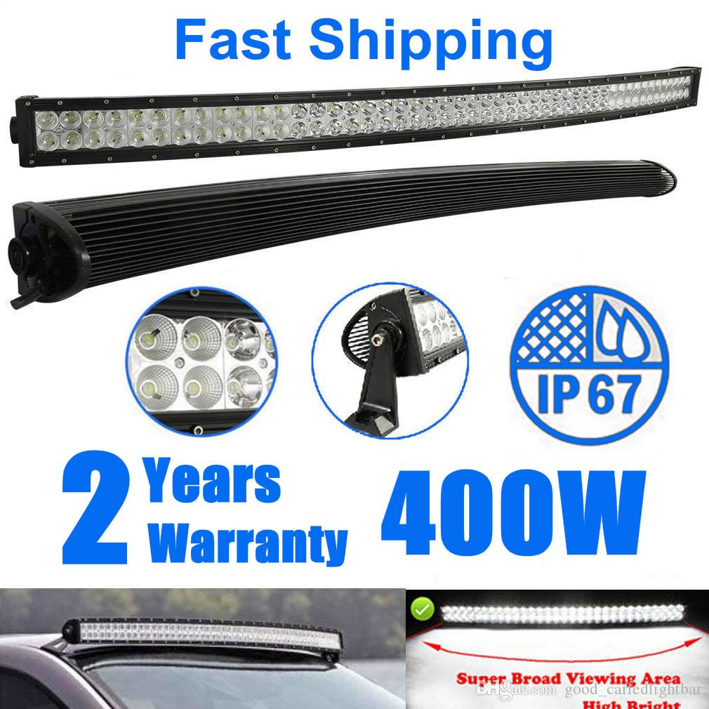 54 Inch 400w Curved Waterproof Ip67 Led Work Light Bar Combo Beam Driving Light For Offroad 4wd Ford Suv Boat Truck Tractor Trailer Atv Utv