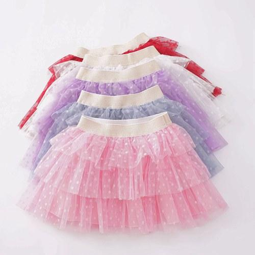 2019 little girls tutu skirts baby polka dot pettiskirts kids princess tulle skirt childrens boutique clothing birthday party supplies candy