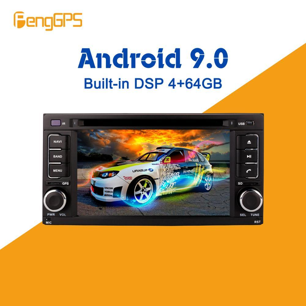 Android 9.0 4+64GB px5 Built-in DSP Car DVD Player multimedia Radio For Forester Impreza 2008-2013 GPS Navigation Radio