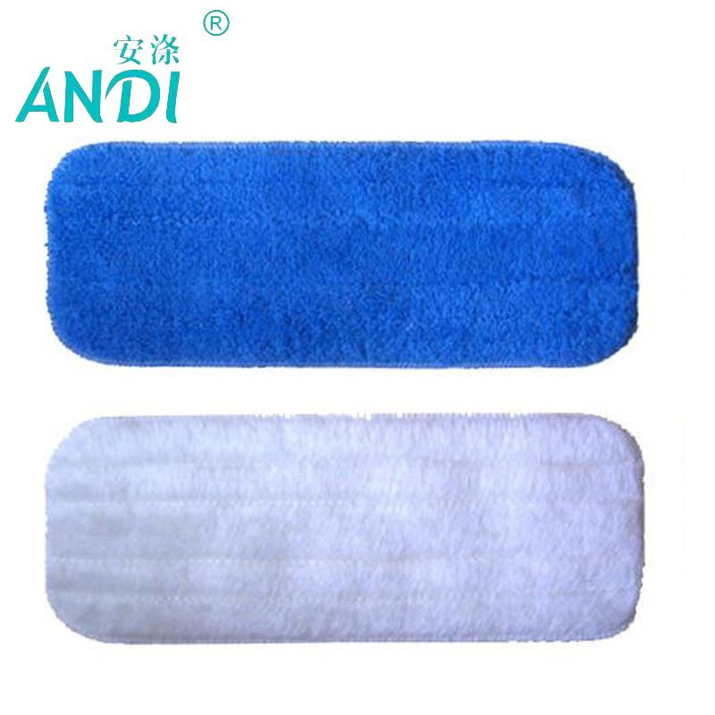 2pcs Flat Replacement Static Magnetisation Wood Floor Mop Cleaning Cloth Seaweed Fiber Mop32x12cm C19041701