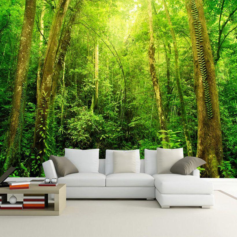 Compre Paisaje Natural 3d Hd Mural De Pared Grande Bosque De La Foto