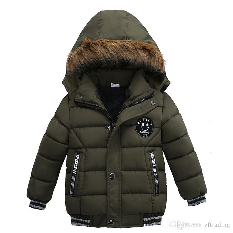 009693c43 Baby Boys Winter Warm Coat Children Cotton Padded Outwear Clothes ...