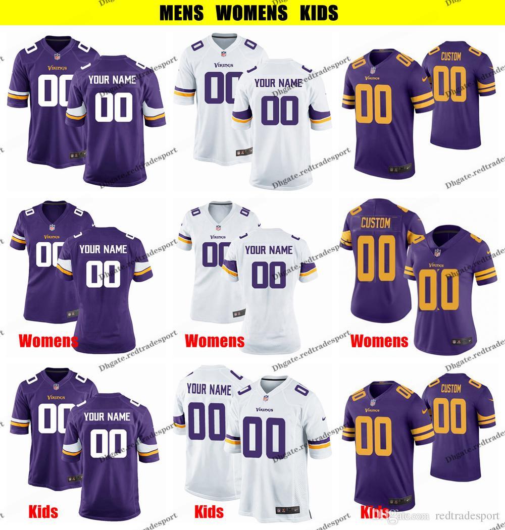 new product 44627 d2e0e Customize Minnesota Mens Womens Kids Vikings 99 Danielle Hunter 98 Joseph  82 Kyle Rudolph 84 Randy Moss 29 Xavier Rhodes Football Jersey