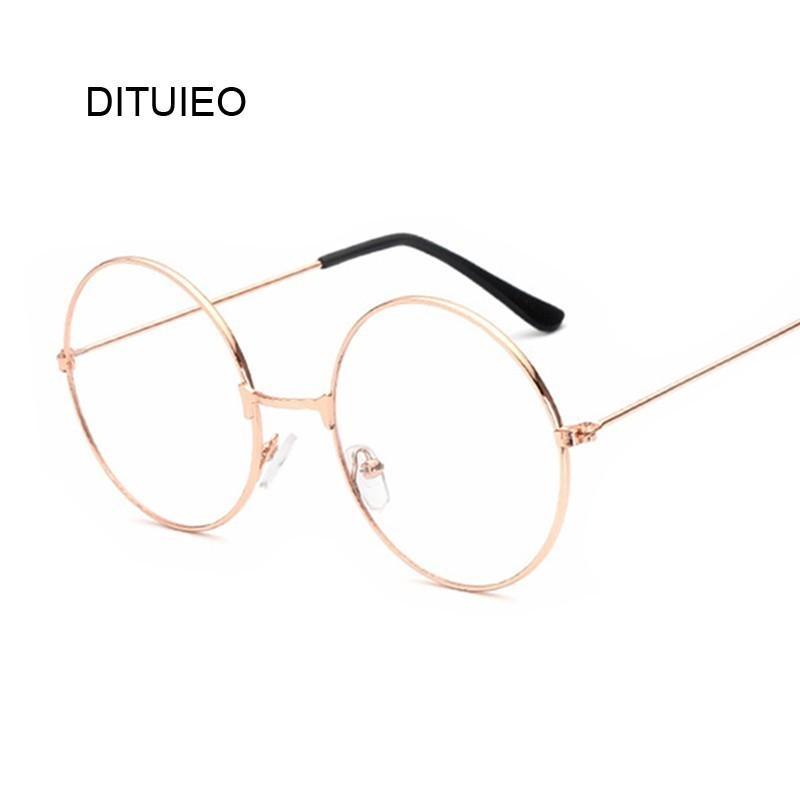 073eef872557 Vintage Style Women Men Popular Round Metal Clear Lens Glasses Frame ...