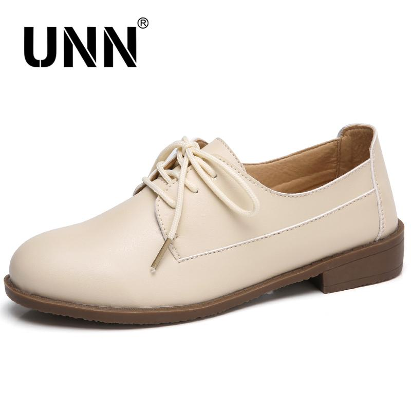 1f33fe16189 Dress Shoes Women Oxford Ballerina Women Genuine Leather Moccasins Lace Up  Loafers White Black 2019 Spring Unn Wedge Shoes Casual Shoes For Men From  Deal3