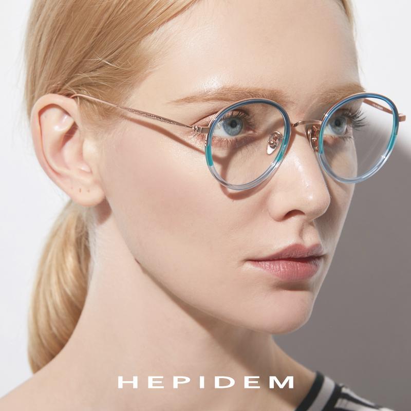 a84c8a261f26 2019 HEPIDEM B Titanium Optical Glasses Frame Women Vintage Oval  Prescription Eyeglasses Men Retro Round Myopia Spectacles Eyewear From  Ericgordon