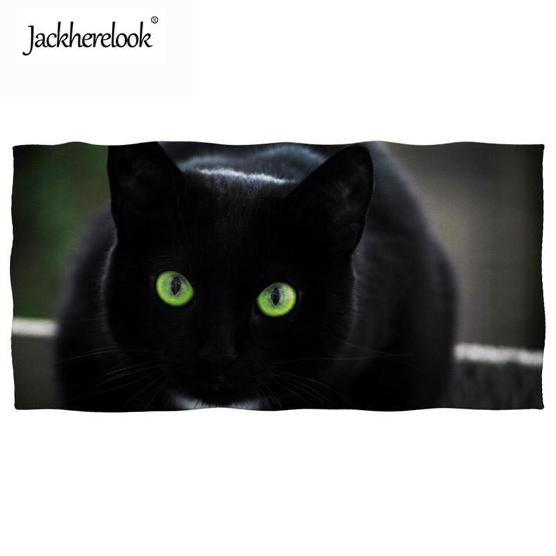 0b0068d19042 Compre Jackherelook Preto Gato Animal 3D Impresso Toalhas De Natação Super  Absorvente Verão Toalha De Praia Piquenique De Viagem Cobertor Cobrir A  Praia De ...