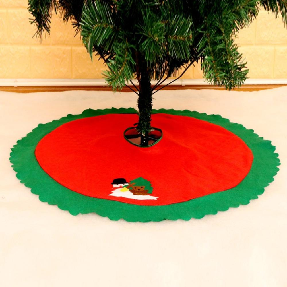 2018 New Christmas Tree Dress Non-woven Snowman Xmas tree skirt Christmas decorations For Home Navidad New Year Decor Ornaments
